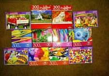 Lot of 6 300 and 500 Piece Jigsaw Puzzles Random Puzzles All new Sealed