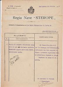 DOCUMENTO REGIA MARINA NAVE STEROPE LA MADDALENA PORTO DI LAIGUEGLIA 4-145
