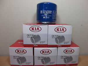 GENUINE KIA RIO SEDAN & HATCH JB UB SERIES PETROL OIL FILTER VALUE PACK 6EA