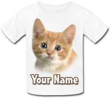 TABBY KITTEN / CAT PERSONALISED CHILDS T-SHIRT - GREAT KIDS GIFT & NAMED TOO