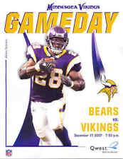 Minnesota Vikings Chicago Bears NFL GameDay Program 12/17/07...Adrian Peterson