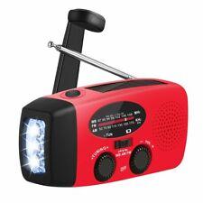 Emergency Solar Hand Crank Dynamo AM/FM/WB Radio LED Flashlight Phone Charger