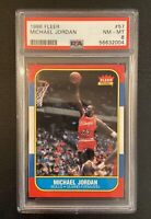 1986 Fleer Michael Jordan Rookie Card #57 PSA 8 NM-MT