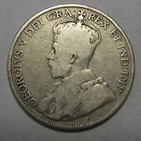 1919 Canada Silver Half Dollar Nice Early Issue Grading VG           c003