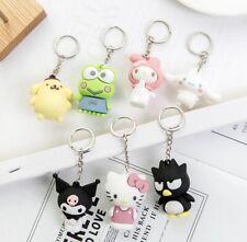 Sanrio Keychain Hello Kitty Kuromi My Melody Pompompurin Charm Keyring