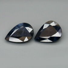 5.88 Carat Pair 2pcs Natural Midnight Blue SAPPHIRE for Jewelry Setting Pear Cut
