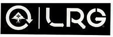 Lifted Research Group Core Collection Skateboard  Sticker- LRG Black & white