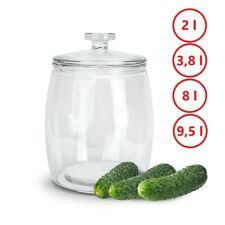 EINMACHGLAS Vorratsglas Einweckglas Gurkenglas Gärglas Glas Behälter Groß