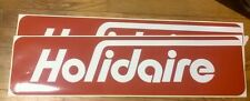 "Holidaire Travel Trailer Red & White Vintage Style Reproduction decal 24"" set 2"