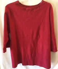 French Laundry womens top size 3x nice crocheted neck detail career