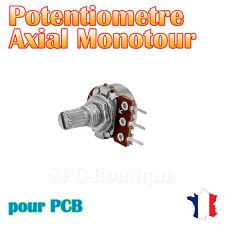 1x Potentiomètre mono logarithmique Axial 10KΩ (A10K), pour PCB