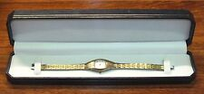 Vintage Advance Quartz (Y120A) Silver & Gold Tone Women's Small Wrist Watch!