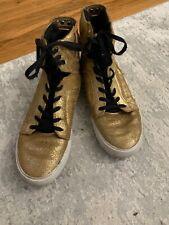 SUPRA high top sneakers - Kids size 6 Gold Metallic