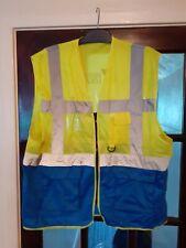 HI VIS Exec Vest Yellow/Blue - 'DFDS LOGISTICS' Logo Size 2XL - Hardly Worn