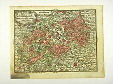 SACHSEN DRESDEN BÖHMEN PRAG ALTKOL KUPFERSTICH KARTE LOTTER 1762 #D916S