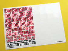 DB Die Bahn German Federal Railways Logo 'G' scale garden rail stickers decals