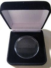 """BLACK VELVET Presentation /Gift Box for 1 1/2"""" CHALLENGE COIN"""