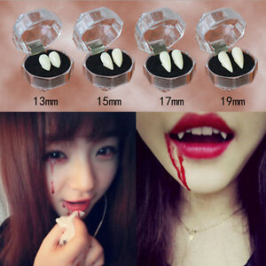 Bloodcurdling Vampire Werewolves Fangs Fake Dentures Teeth Costume Halloween .eo