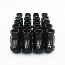 20x Car M12x1.25 Lightweight Wheel RIM Lug Nut Screw Long Open End Black