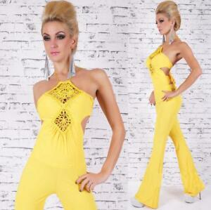 Women's Cotton Jumpsuit Overall with sexy open back Catsuit one size HOT