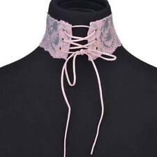 Arrival Sexy Women Black Corset Lace Tie Gothic Choker Bib Collar Necklace