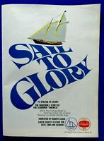 "1967 Schaefer Beer Sail To Glory America Schooner Original Print Ad 8.5 x 11 """