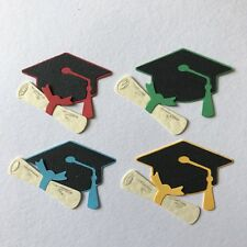 Graduation Hats Caps Diploma Certificates College University Toppers Die Cuts