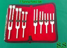 7 Pcs Set Tuning Forks SURGICAL DIAGNOSTIC INSTRUMENTS
