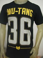 NWT Men's Large Black Wu-Tang Clan 36 Football Jersey Hip Hop Rap Band Tee Shirt