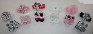 Vitamins Baby Infant Girls 6pk Novelty Headwrap & Socks Size 0-12M