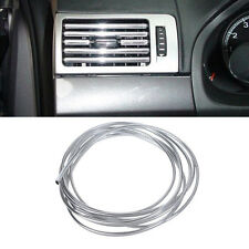 "U"" Style Chrome Trim Strip Bumper Air Vent Grille Switch Rim Moulding 3m x 6mm """