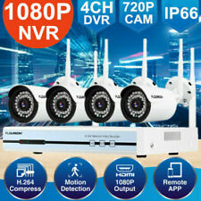 4CH Wireless CCTV 1080P HDMI DVR Kit Outdoor WiFi IP Cameras Security NVR System
