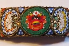 Antique Micro Mosaic Bracelet Red Roses Made In Italy