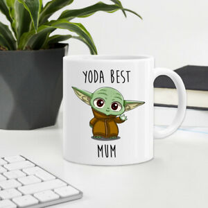 CUTE BABY YODA BEST MUM Mothers Day Mug Printed Ceramic Tea Coffee Cup Gift 04