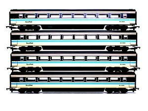 4 x ASSORTED LIMA OO GAUGE SCOTRAIL LIVERY MK3 COACHES EXCELLENT PLUS NO RESVE