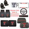 NCAA Texas Tech University Choose Your Gear Auto Accessories Official Licensed