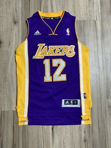 Adidas NBA Los Angeles Lakers Jersey  #12 HOWARD Youth Size Small Purple Yellow