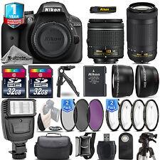Nikon D3300 DSLR Camera + 18-55mm VR + Nikon 70-300mm + 1yr Warranty - 64GB Kit