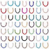 Wholesale 50pcs 6mm Bicone Faceted Crystal Glass Loose Spacer Beads Jewelry DIY