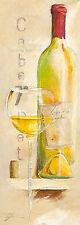 Elizabeth Espin: Le Vin de l´été Wein Küche Fertig-Bild 13x35 Wandbild