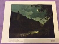 Vintage Book Print - Dovedale by Moonlight - Joseph Wright - 1931