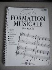 Cours de formation musicale 5ème année exercices pratiques et théoriques /N21