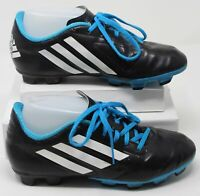Adidas Boys Conquisto TRX FG Soccer Cleats Black Blue Shoes B25593 Youth Size 5Y