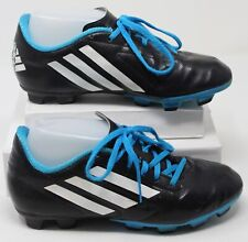 Adidas Boys Conquisto TRX FG Soccer Cleats Black Blue Shoes B25593 Youth Size 5Y