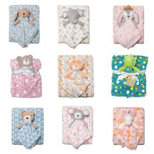 Baby Comforter Security Blanket Matching Set Newborn Infant Boys Girls Shower