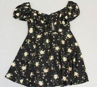 Boohoo Women's Vickie Bohemian Tiered Bustier Tea Dress AB4 Black UK:16 US:12