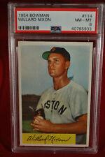 1954 Bowman - Willard Nixon - #114 - PSA 8 - NM-MT