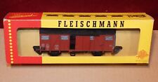 Fleischmann Wagon Covered Wood of the DB, 2 Doors, Box, Perfect, 1470