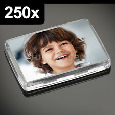 250x Premium Quality Clear Acrylic Blank Photo Fridge Magnets 50 x 35 mm