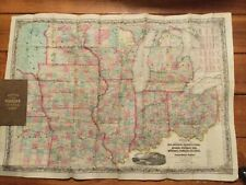 Vintage 1857 Colton's Bound Pocket Map of the Western States